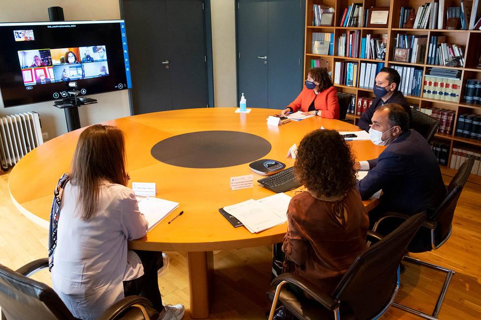 La firma se realizó de manera telemática - FOTO: Xunta /Xoán Crespo