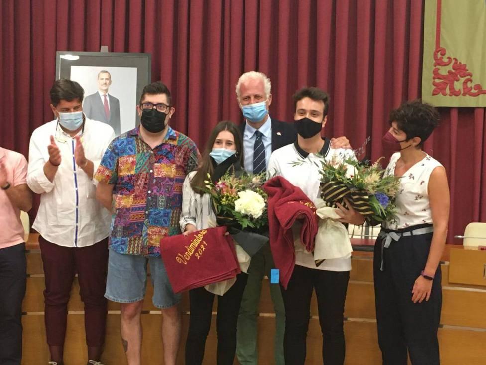 La proclamación de Andrea Morán Couceiro y Abel Alonso Santolaya como vendimiadores de San Mateo 2021