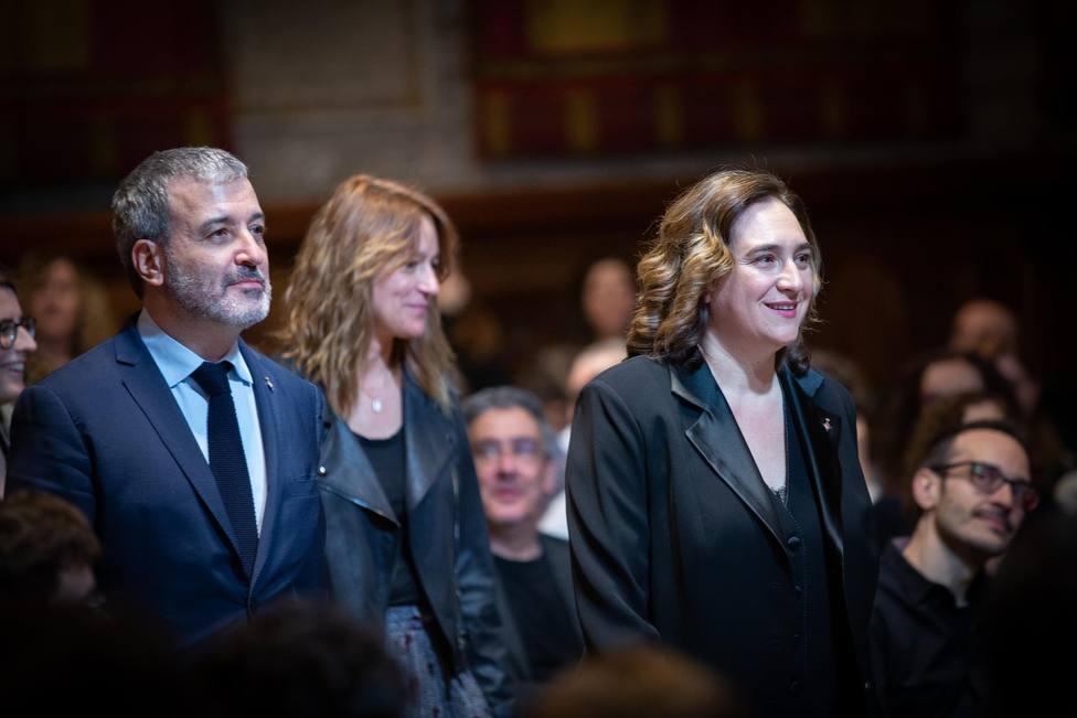 Ada Colau y Jaume Collboni en los Premis Ciutat de Barcelona