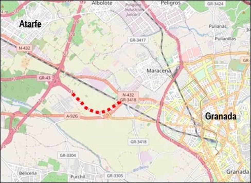 Granada.- Transportes licita las obras del acceso a la capital por la N-432 desde Atarfe