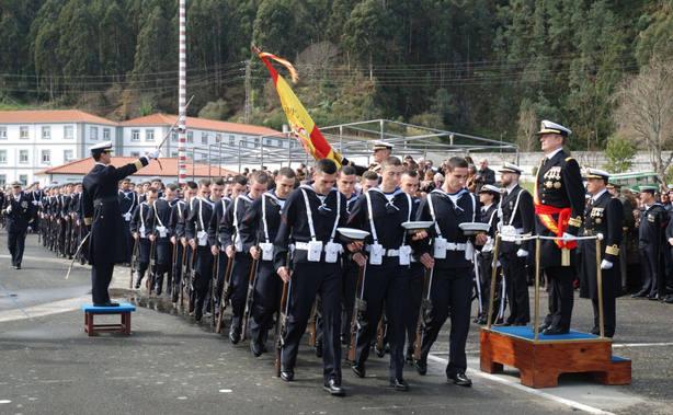 Foto de archivo de una jura de bandera en A Graña