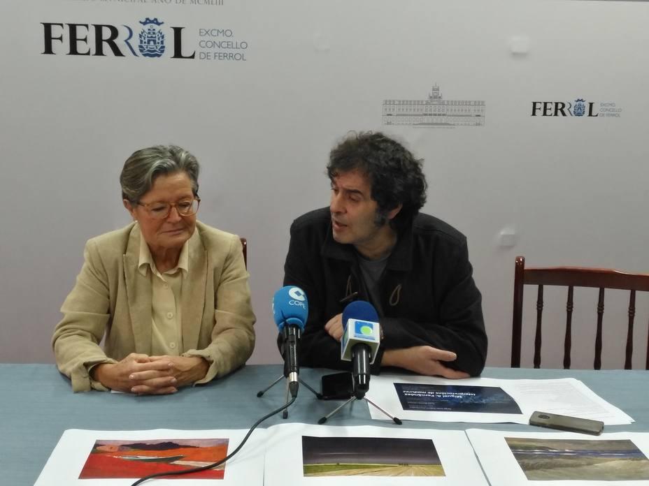 Margarita Orduna y Suso Basterrechea durante la presentación de la exposición