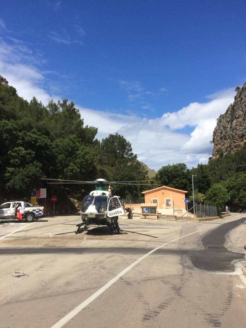 Evacuado un bebé de 19 meses al caer de una altura de siete metros en Sa Calobra (Mallorca)