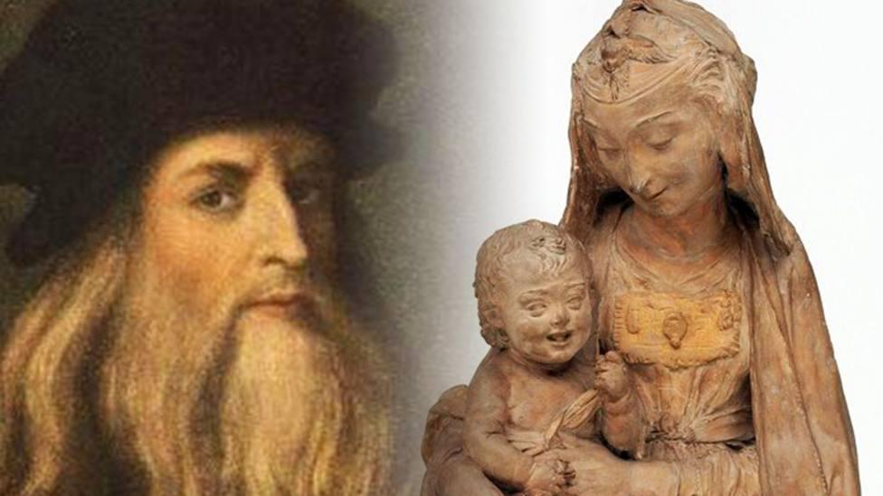 El curioso detalle en una escultura de la Virgen sonriendo que ha hecho que se atribuya a Da Vinci