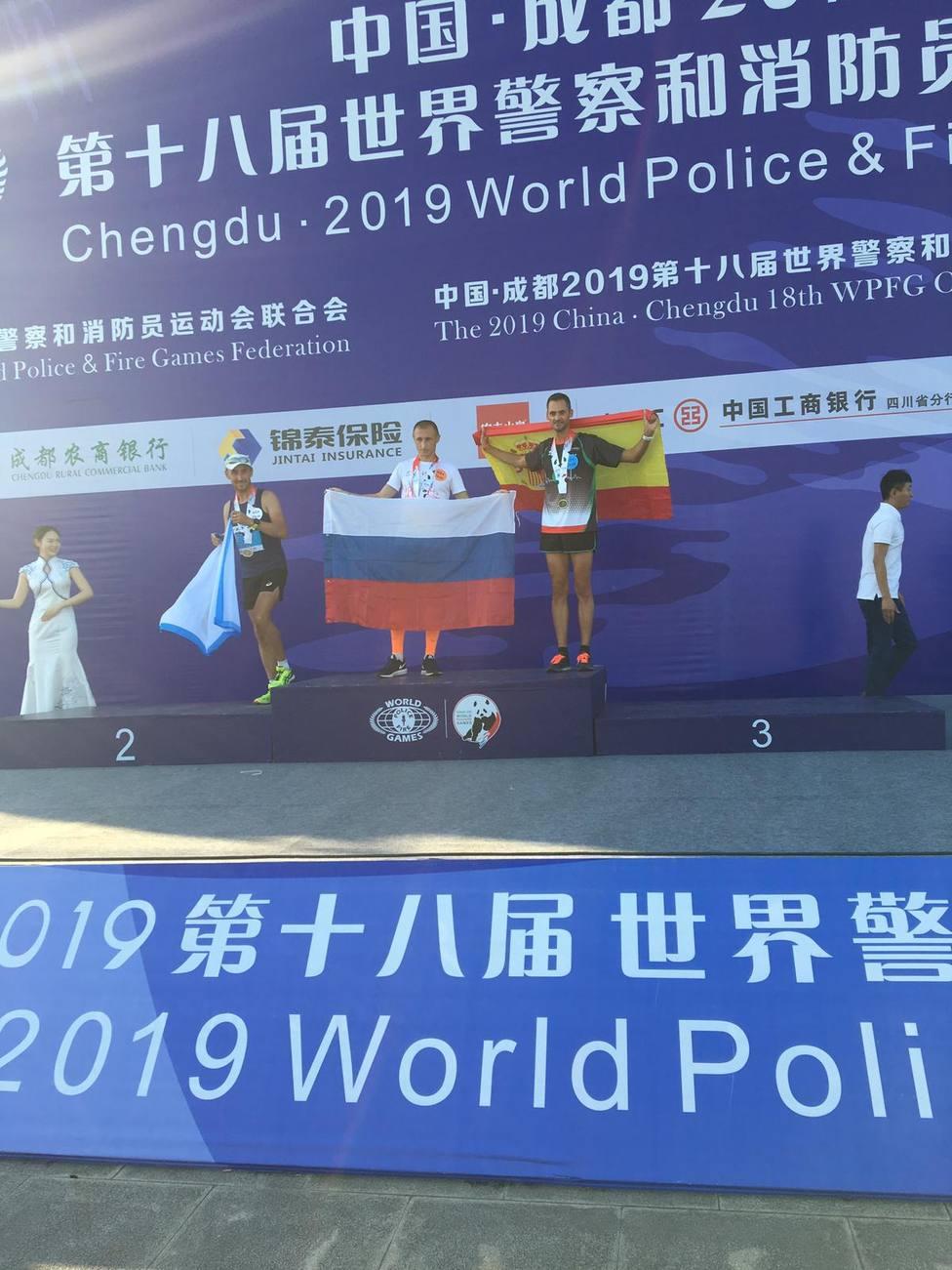 Joaquín López consigue su primera medalla en el mundial de China de policías y bomberos