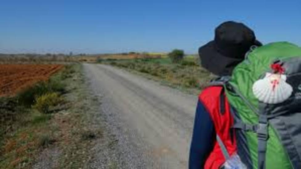 Imagen de un peregrino en el Camino de Santiago