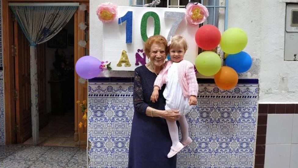 Fallece Clotilde, la voluntaria de Cáritas de 107 años y premiada por el Rey