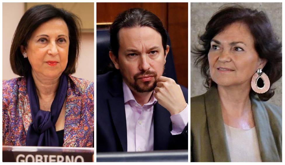 """Los 'recados' de Robles y Calvo a Iglesias tras querer """"normalizar"""" los insultos a los medios de comunicación"""
