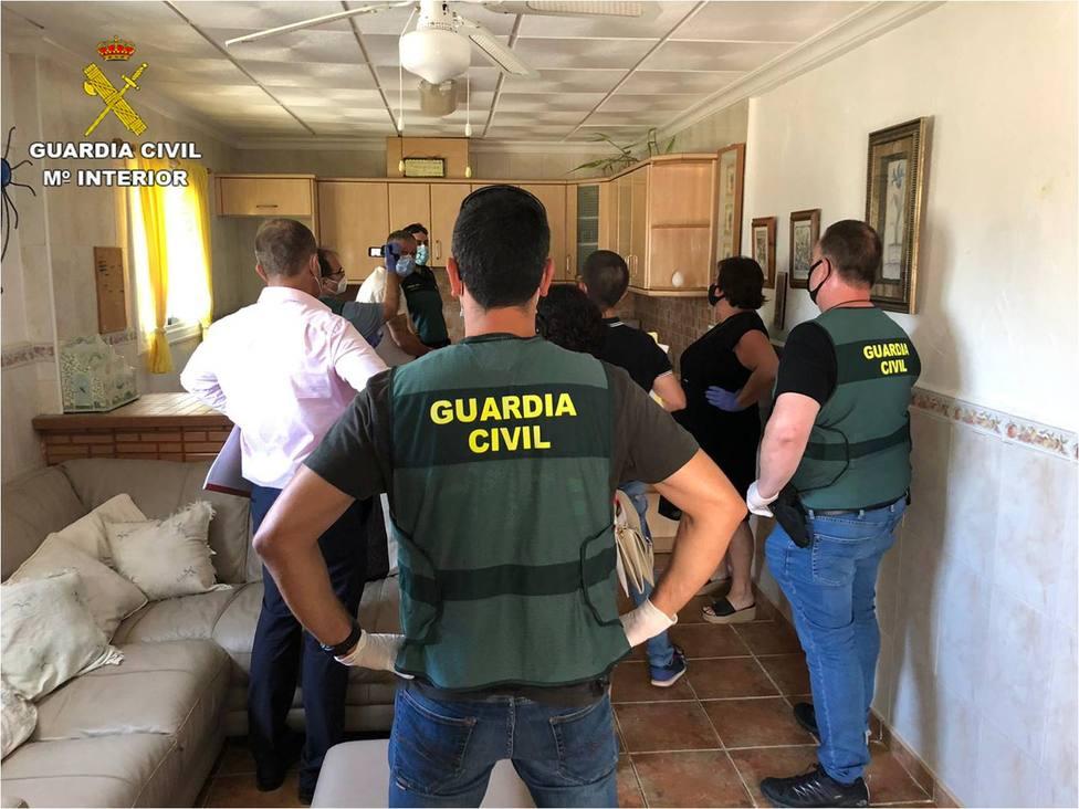 Imagen de la reconstrucción de los hechos (Guardia Civil)