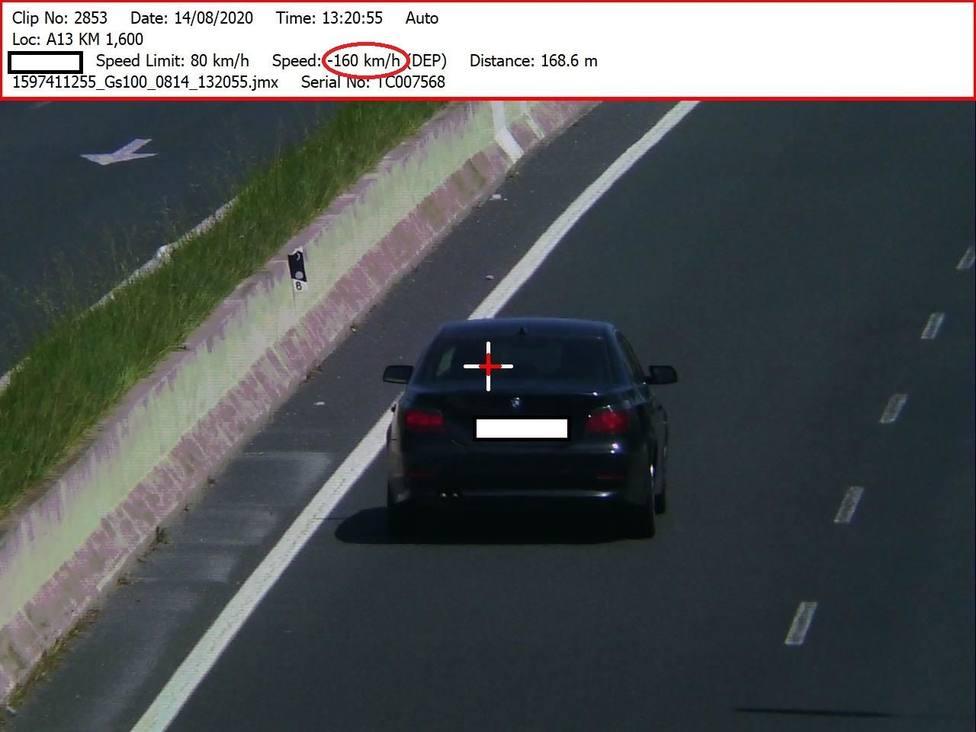 Infracción por exceso de velocidad en la circunvalación de Logroño