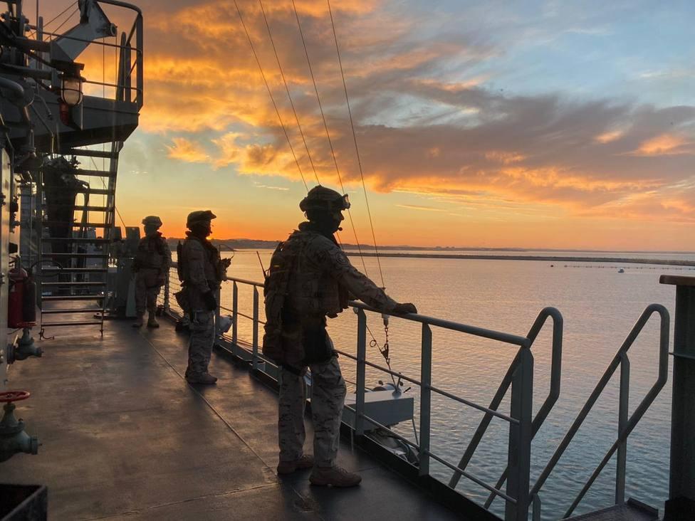 EOS de la USCAN a bordo del BAC Cantabria. FOTO: Armada