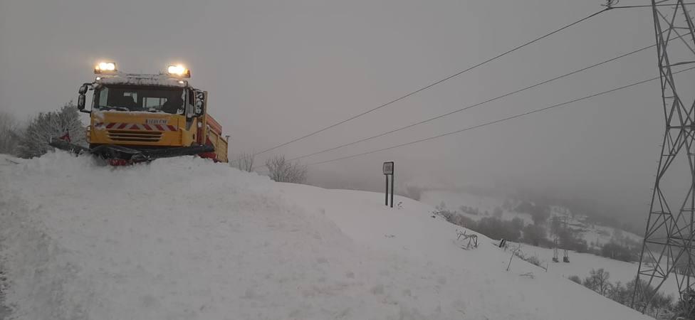 Dispositivo especial de la Diputación de Lugo para evitar la acumulación de nieve en la red viaria provincial
