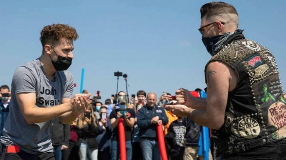 Así comenzaba la batalla de los Josh el pasado 24 de abril en el parque Lincoln de Nebrasca