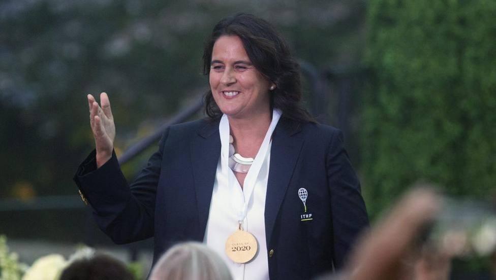Conchita Martínez en el Salón de la Fama Internacional del tenis