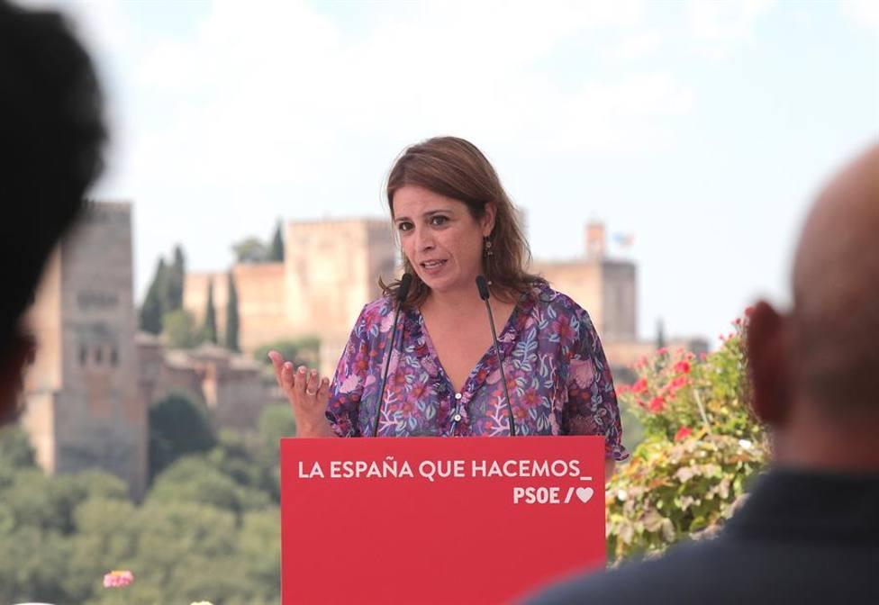 El PSOE niega una purga con Adriana Lastra y será revalidada como número dos
