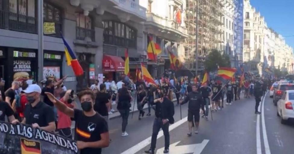 Manifestación de neonazis en Chueca - CEDIDA/ TWITTER
