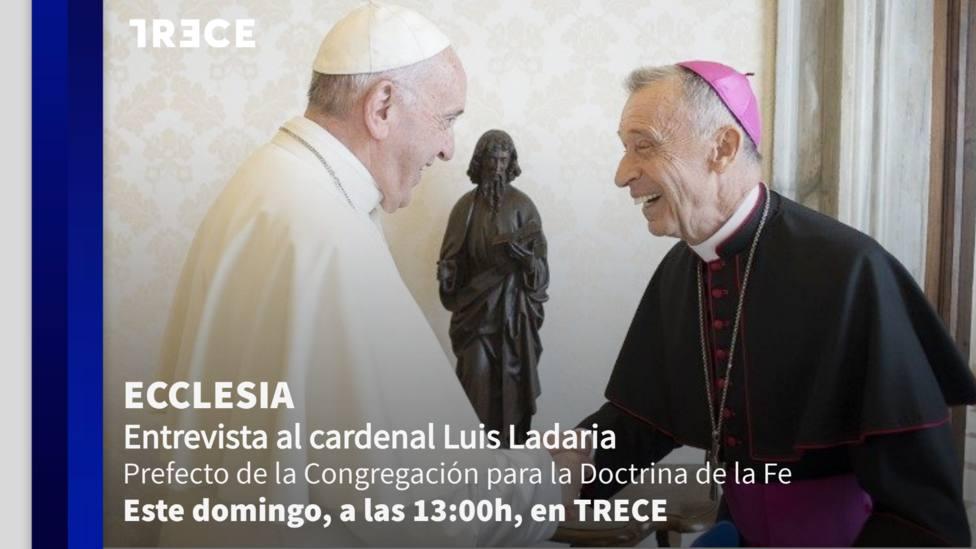 El cardenal Luis Ladaria este domingo en 'Ecclesia'