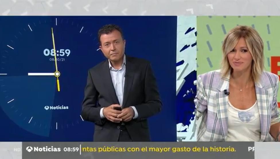 Manu Sánchez descoloca a Susanna Griso en pleno directo y se la devuelve: Ya te dije que te iba a avisar