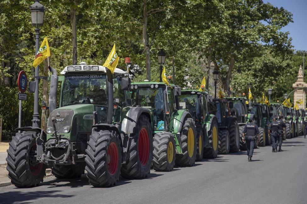 Los tractores vuelven a tomar las calles este jueves en Sevilla