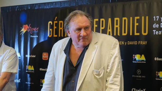 Depardieu lleva sus clásicos como actor a Buenos Aires en gira por A. Latina