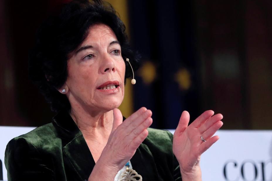 La ministra de Educación, Isabel Celáa