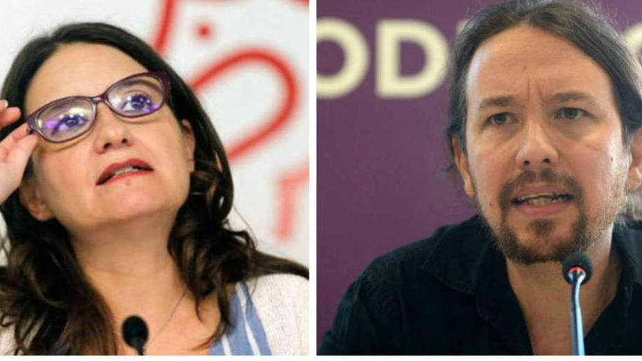 Mónica Oltra y Pablo Iglesias