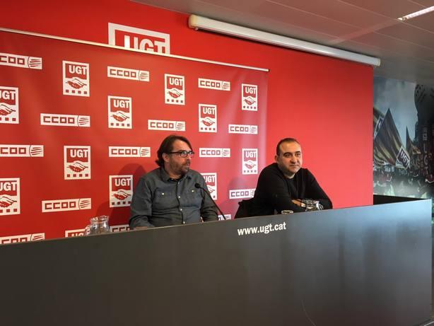 UGT y CC.OO. de Cataluña piden imparcialidad de los magistrados en el juicio del 1-O