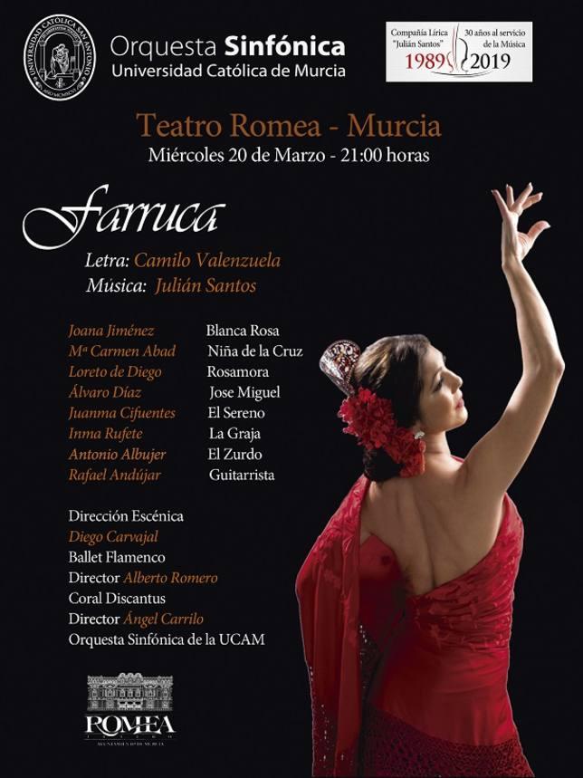 La Orquesta Sinfónica de la UCAM y la Coral Discantus interpretarán 'Farruca'