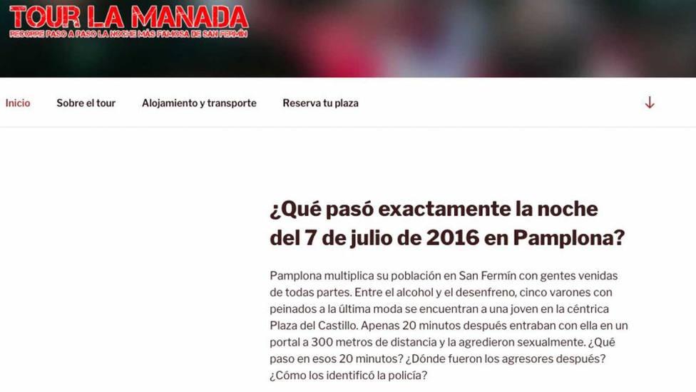 El juez ve indicios para juzgar al responsable del anuncio del Tour de La Manada