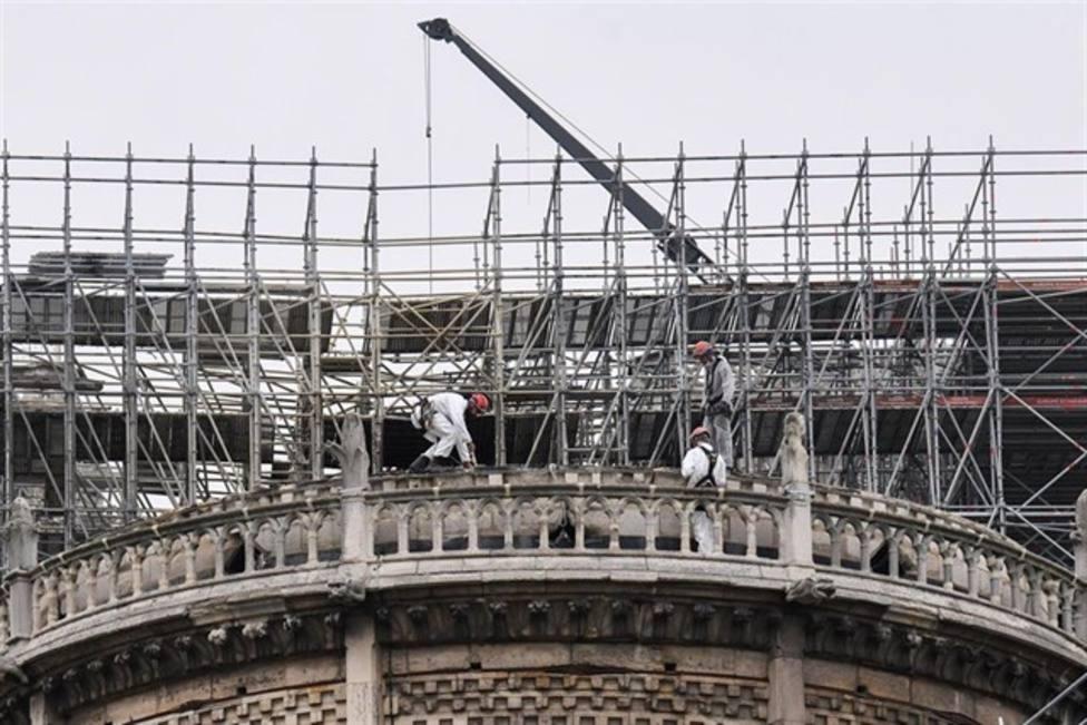 Las labores de restauración de Notre Dame