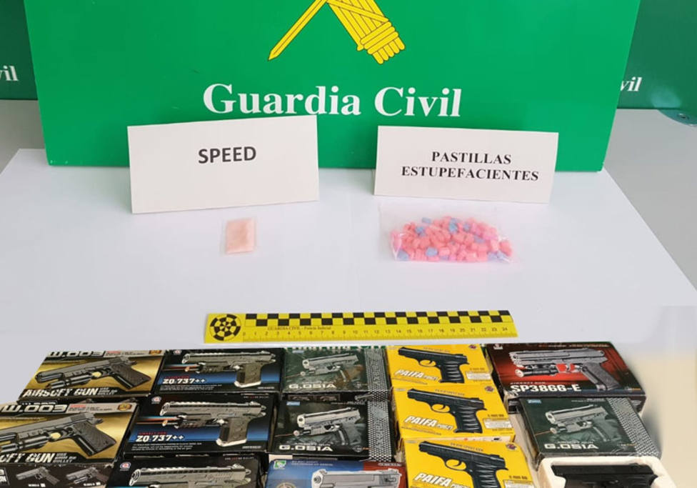 Balance Guardia Civil en Ferias: 2 detenidos por trafico de drogas e incautadas 12 armas de aire comprimido