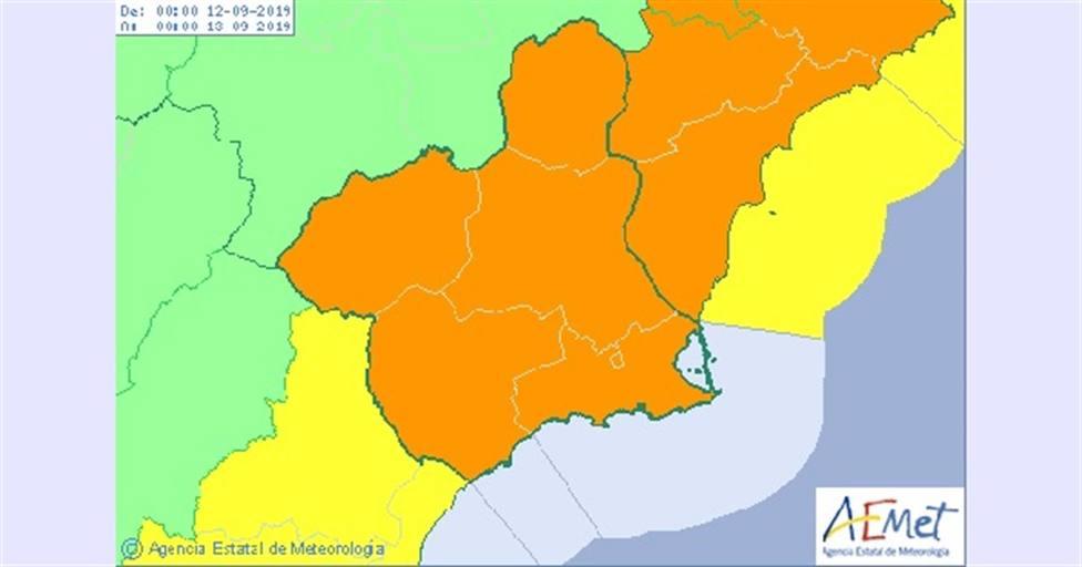 La Degación emite un Boletín de Fenómenos Meteorológicos Adversos