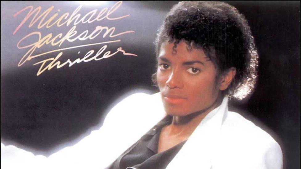 Portada del álbum Thriller de Michael Jackson