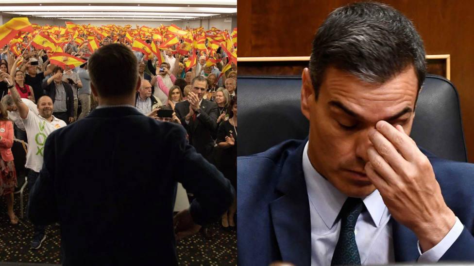 """El vídeo viral de Vox que saca los colores a Sánchez como presidente """"peón"""""""