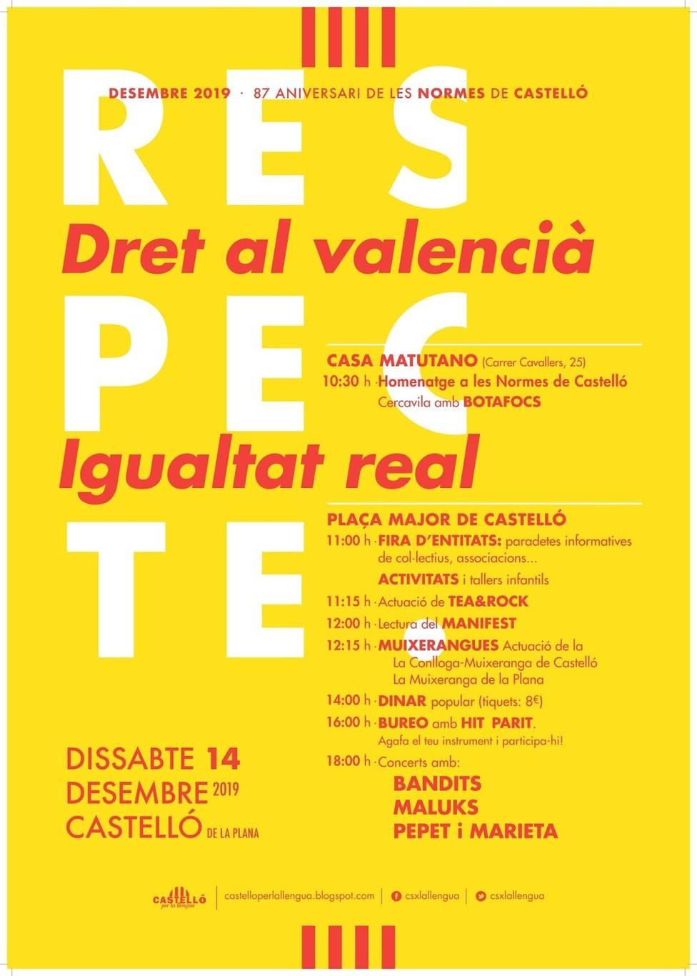 El 14 de diciembre se celebra el aniversario de Les Normes de Castelló