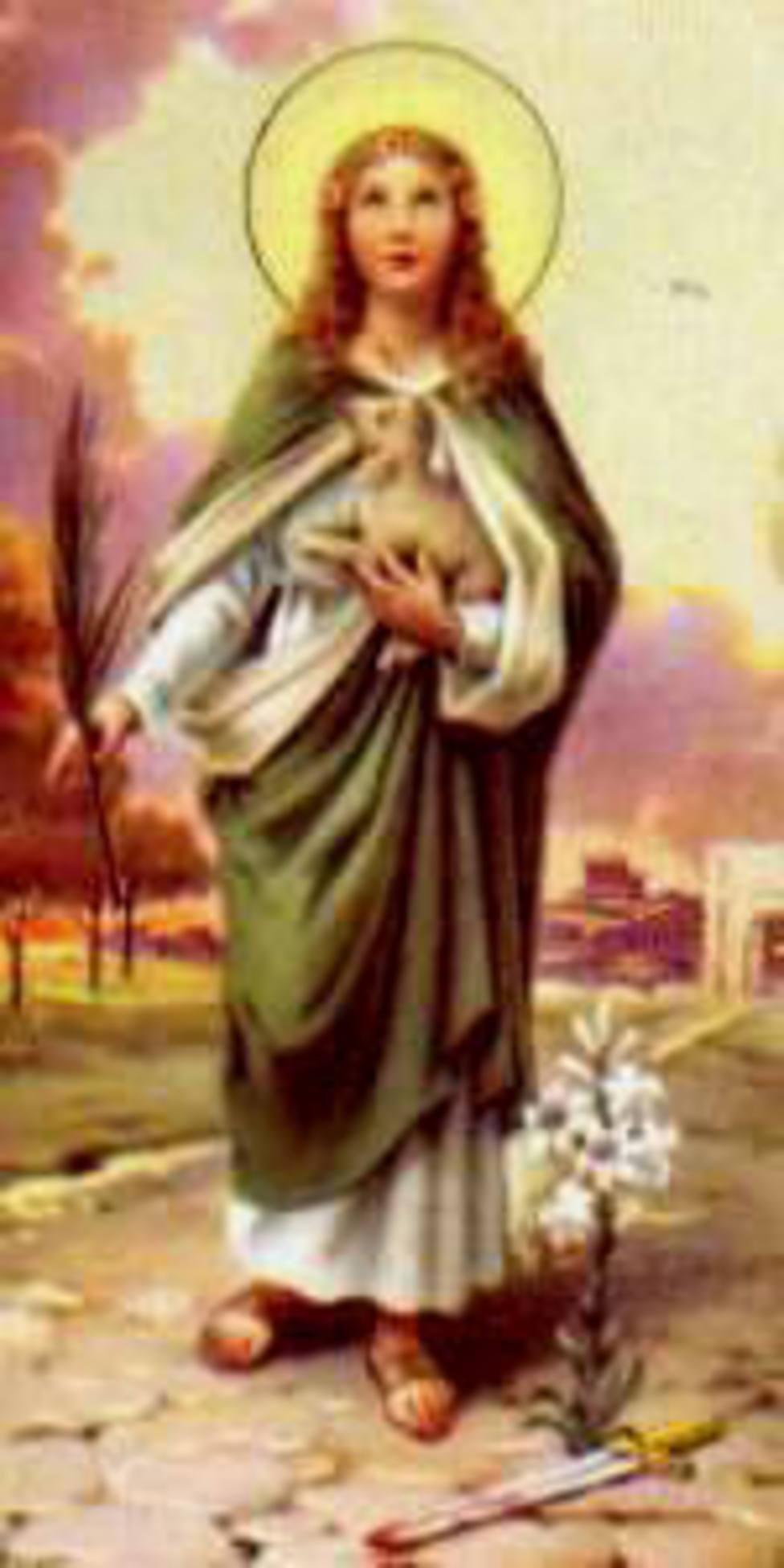 Santa Inés unida al Cordero degollado que nos salva