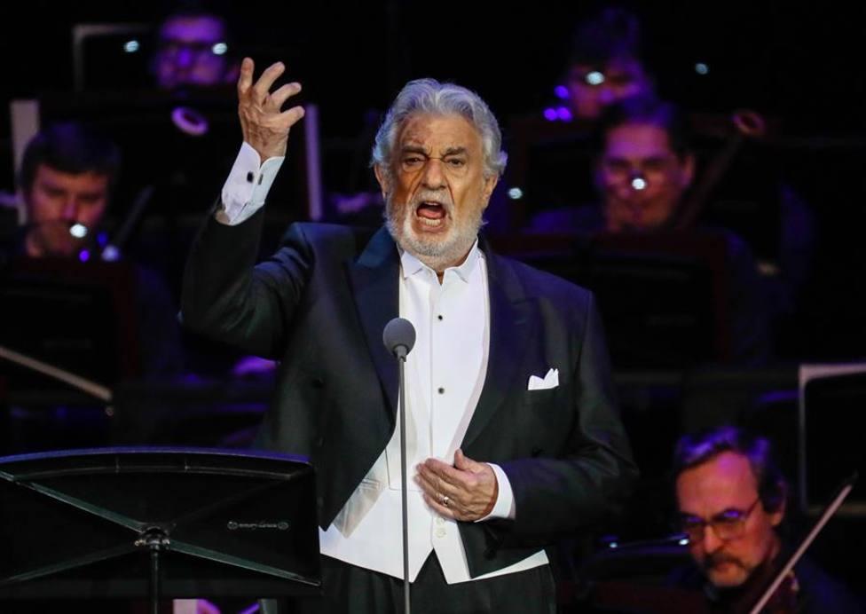 Plácido Domingo durante una actuación en Moscú