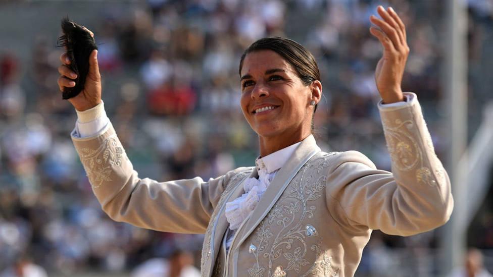 Lea Vicens, en una imagen de archivo, triunfadora del festejo mixto de Priego de Córdoba