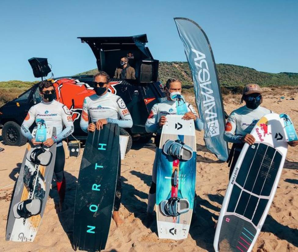Podium del BIG AIR de la Spain Kiteboarding League