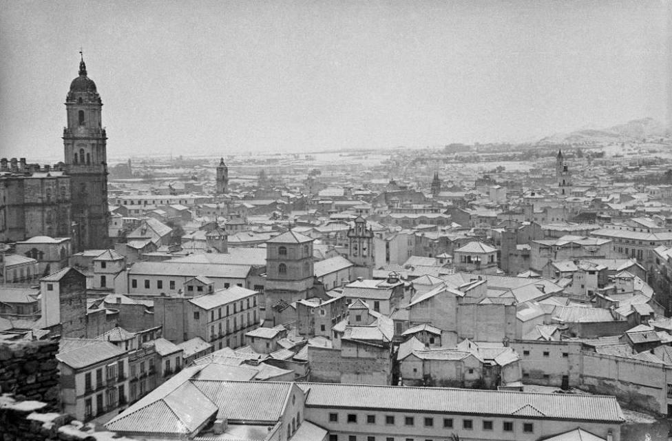 Así fue la gran nevada que sorprendió a los malagueñs en 1954