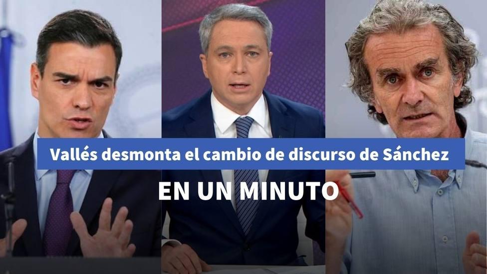 Vicente Vallés desmonta el cambio de discurso de Sánchez con la cepa británica del coronavirus: en un minuto