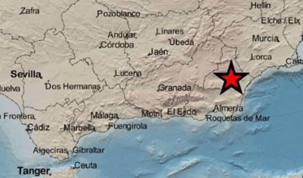 Registrado un terremoto de magnitud 3,4 al noroeste de Arboleas.