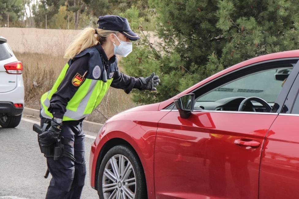 Control policial de cumplimiento del cierre perimetral en la Comunidad Valenciana