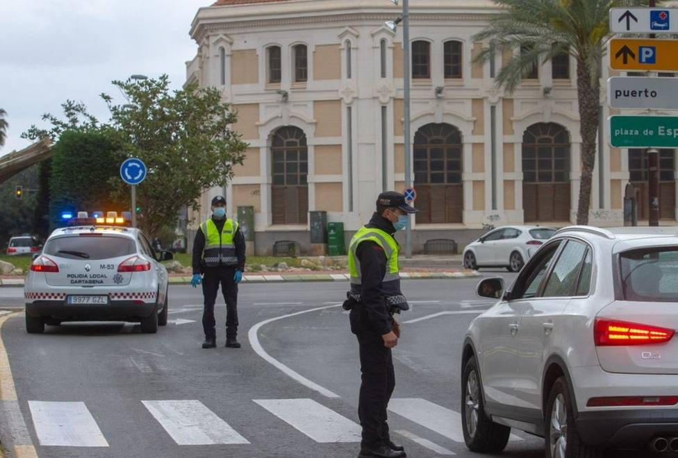 Descienden las sanciones de la Policía Local de Cartagena durante el fin de semana con terrazas abiertas
