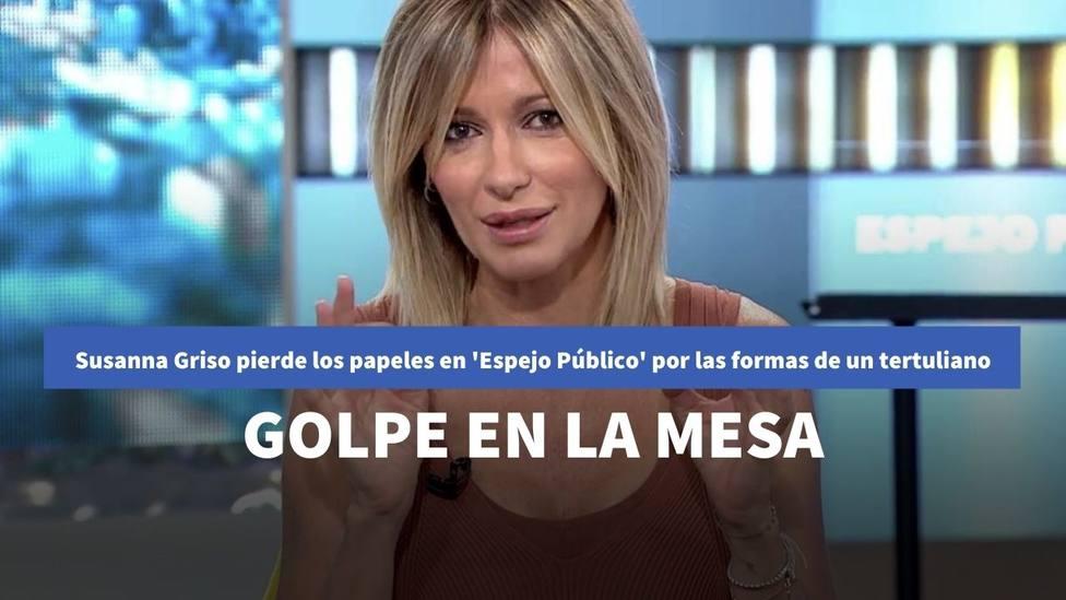 Susanna Griso pierde los papeles en Espejo Público por las formas de un tertuliano: con golpe en la mesa