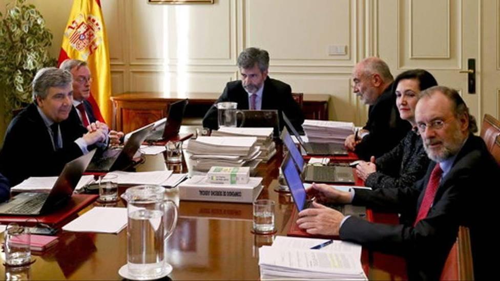 El presidente del Consejo General del Poder Judicial (CGPJ), Carlos Lesmes. EFE