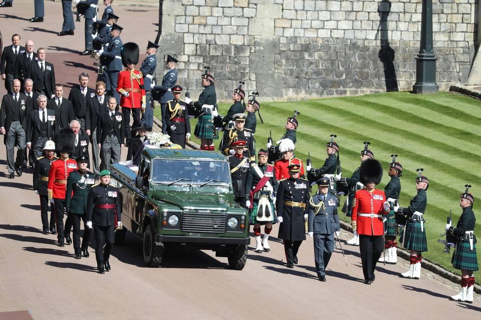 Guillermo y Enrique se reencuentran en el funeral del duque de Edimburgo