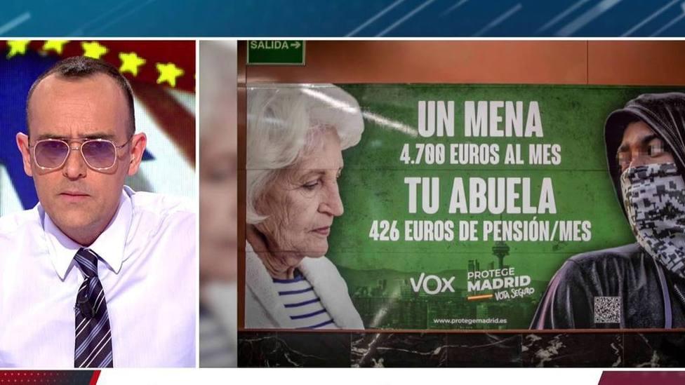 Risto Mejide no se muerde la lengua para opinar sobre el cartel de Vox en Madrid: Lo voy a decir