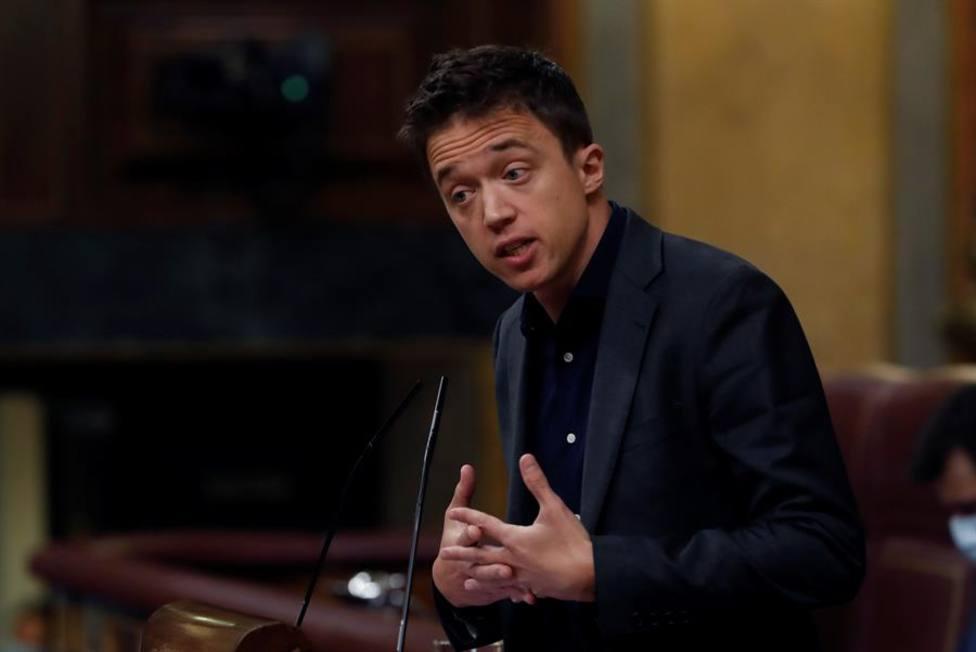 Íñigo Errejón durante una sesión en el Congreso
