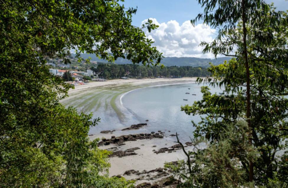 Playa de la Magdalena vista desde la ruta de la costa. FOTO: Concello Cabanas